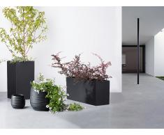 Cache-pot de fleurs - noir - accessoire de jardin - 60x25x30 cm - Orta