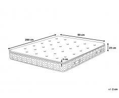 Matelas à ressorts ensachés - mousse à mémoire de forme - multipoche - 90x200 cm - Luxus