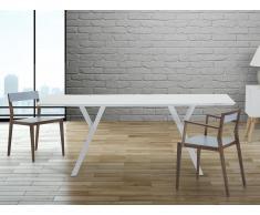 Table de salle à manger - 180 cm - table de cuisine - blanc - Lisala