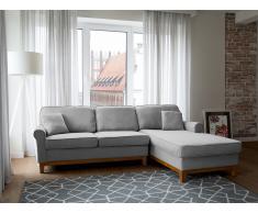 Canapé - Canapé angle - Canapé-lit - Canapé en tissu gris clair - Nexo