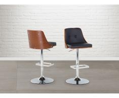 Tabouret de bar - Chaise de bar design - couleur bois naturel - Vancouver