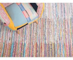 Tapis rectangulaire en coton - multicolore - 80x150 cm - Mersin