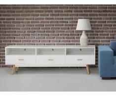 Meuble TV - meuble de rangement - blanc - Liberty