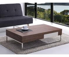 Table basse - table de salon - 120x70 cm - brun - Guarda