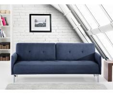 Canapé convertible - canapé-lit en tissu bleu-gris foncé - Lucan