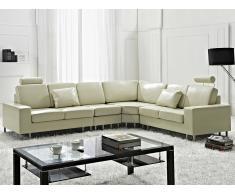 Canapé d'angle réversible - canapé en cuir beige - sofa Stockholm