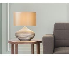 Lampe à poser - lampe de salon, de chevet, de bureau - marron - Lima