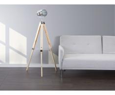 Lampadaire design - luminaire - lampe de salon - couleur bois naturel - Alzette