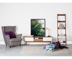 Meuble TV - meuble de rangement - blanc / marron - Eerie