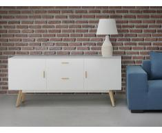 Commode - buffet - meuble TV - blanc - Meet