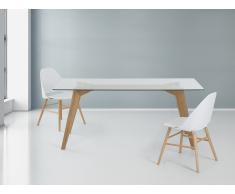 Table de salle à manger - table en verre - 180x90 cm - Hudson