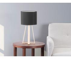 Lampe à poser - lampe de salon, de chevet, de bureau - noir - Korana