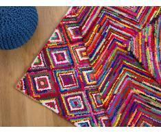 Tapis rectangulaire en coton - multicolore - 140x200 cm - Kaiseri