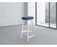 Tabouret de bar - Chaise de bar design - bleu et blanc - Hamburg (moyen)