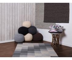 Tapis - Tapis en laine - Tapis fait à la main - Tapis gris et beige - 160x230 cm - Nizip