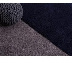 Tapis - poil long - Polyester - 80x150 - Bleu foncé - Edirne