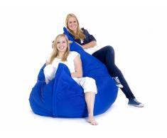 Pouf géant XXXL - coussin de sol 180x230 cm - bleu