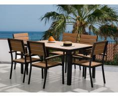 Ensemble de jardin - Table et chaises - Aluminium et polywood - Como