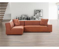 Canapé d'angle - canapé en cuir vintage cognac - sofa Adam (D)