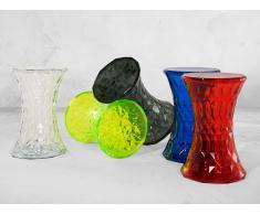Table basse - table d`appoint en plastique - transparent noir - Newham