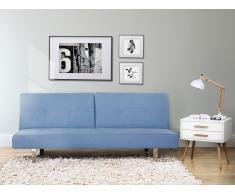 Canapé convertible - canapé-lit design en tissu bleu - Dublin