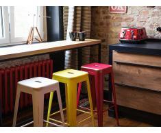 Tabouret de bar - Chaise de bar design - 76 cm - jaune doré - Cabrillo
