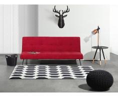 Canapé - Canapé Convertible - Salon - Polyester - Rouge - Hasle
