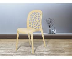 Chaise de jardin - Chaise en plastique beige - Rubin