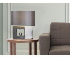 Lampe à poser - lampe de salon, de chevet, de bureau - gris - Duero