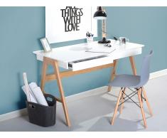 Bureau - Meubles de bureau - 120x70 cm - Blanc - Sheslay