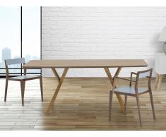 Table de salle à manger - table de cuisine - 180 cm - pin - Lisala