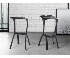 Tabouret de bar design noir - Broome