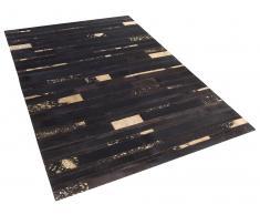 Tapis en peau de vache - 80x150 cm - brun or - Artvin