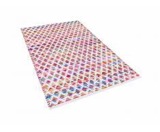 Tapis rectangulaire en coton - Tapis multicolore 80x150 cm - bariolé - Arakli