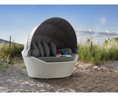 Salon de jardin - Salon de plage - Panier en rotin blanc - Sylt