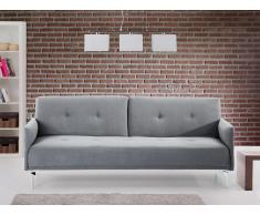 Canapé convertible - canapé-lit en tissu gris - LUCAN