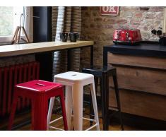 Tabouret de bar - Chaise de bar design - 76 cm - blanc - Cabrillo