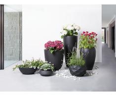 Cache-pot - Accessoir de jardin - 35x35x55 cm - Noir - Ness