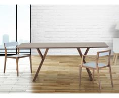 Table de salle à manger - table de cuisine - 180 cm - noyer - Lisala