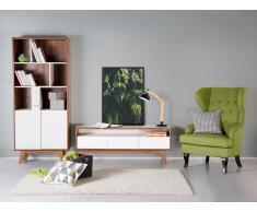Armoire - meuble de rangement - bibliothèque en MDF - marron-blanc - Columbus