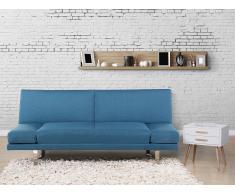 Canapé convertible - canapé-lit en tissu bleu marine - York