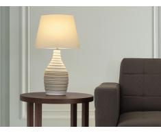 Lampe à poser - lampe de salon, de chevet, de bureau - crème - Tormes