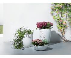 Cache-pot - Accessoir de jardin - 35x35x55 cm - Blanc - Ness
