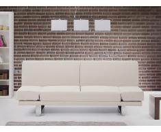 Canapé convertible - canapé-lit en tissu beige - York