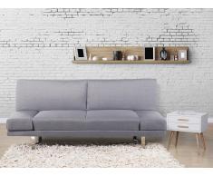 Canapé convertible - canapé-lit en tissu gris clair - York