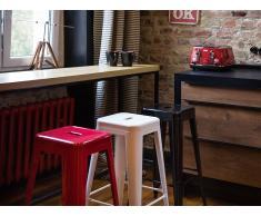Tabouret de bar - Chaise de bar design - 60 cm - blanc - Cabrillo