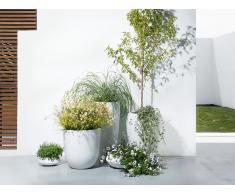 Cache-pot - Accessoir de jardin - 30x30x30 cm - Blanc - Avan
