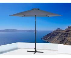 Parasol en métal - toile anthracite ronde - ø 267 cm - Varese