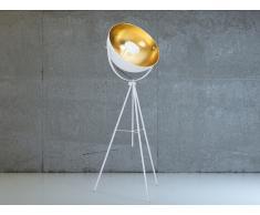Lampadaire design - luminaire - lampe de salon - blanc - Thames