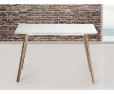 Table de salle à manger - table de cuisine - blanc - 120x80 cm - Fly